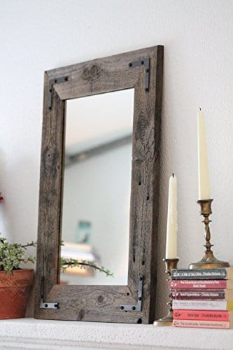 Rustic Wall Mirror Wall Mirror 18 X 24 Vanity Mirror Bathroom Mirror Rustic Mirror Reclaimed Wood Mirror Farmhouse Goals