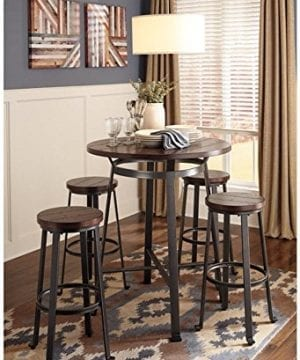 Signature Design By Ashley Challiman Collection Counter Height Dining Room Table Rustic Brown 0 0 300x360