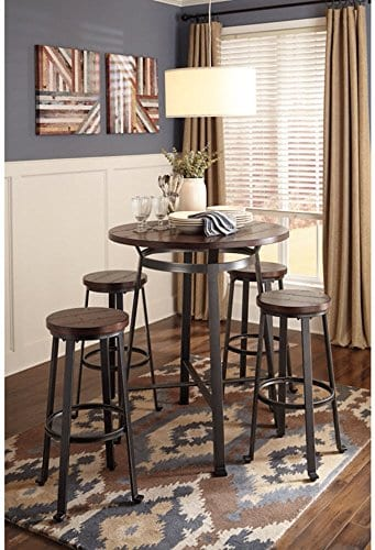 Signature Design By Ashley Challiman Collection Counter Height Dining Room Table Rustic Brown 0 0