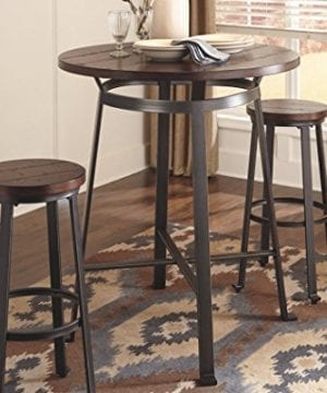 Signature Design By Ashley Challiman Collection Counter Height Dining Room Table Rustic Brown 0 1 300x360