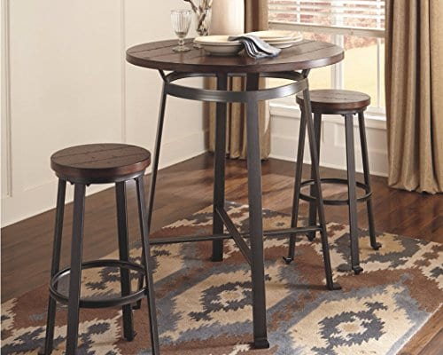 Signature Design By Ashley Challiman Collection Counter Height Dining Room Table Rustic Brown 0 1