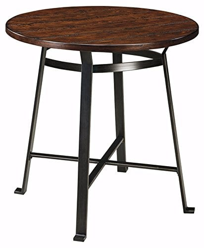 Signature Design By Ashley Challiman Collection Counter Height Dining Room Table Rustic Brown 0