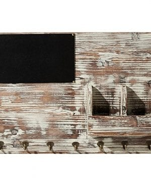 Torched Wood Wall Mounted Chalkboard Memo Clips Mail Sorter And Key Hooks Entryway All In One Organizer 0 2 300x360