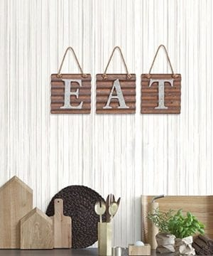 Xing Cheng Eat Kitchen Wall Decor Sign,Metal Letters Plaque Country Rustic  Farmhouse Pantry Art Decorations Theme Sets