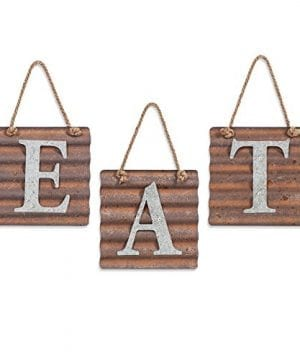Xing Cheng Wall Metal Plaque Sign Eat Letter Sign Wavy Metal Plate For Kitchen 0 300x360