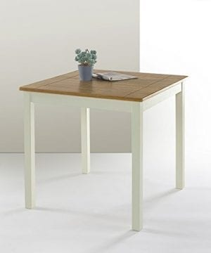 Zinus Farmhouse Square Wood Dining Table 0 300x360