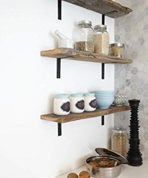 4 Pack 8L X 3H Bracket Handcrafted Forged Rustic Reclaimed Salvaged Metal Steel Shelf Wall Brackets Modern Decorative Bracket Shelve Storage Strap Angle Corner Iron Farm House 0 1 300x360