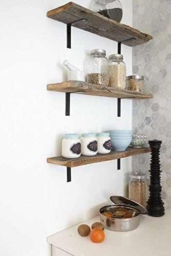 4 Pack 8L X 3H Bracket Handcrafted Forged Rustic Reclaimed Salvaged Metal Steel Shelf Wall Brackets Modern Decorative Bracket Shelve Storage Strap Angle Corner Iron Farm House 0 1