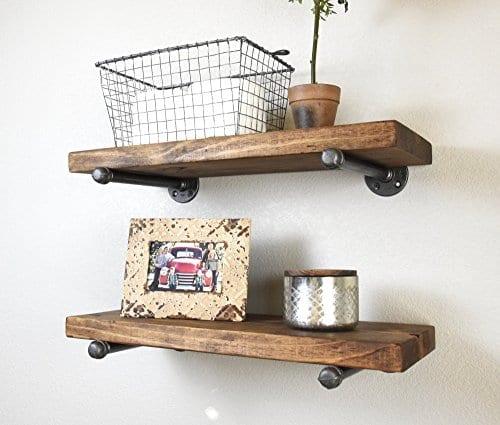 725 Deep X 24 Long Industrial Floating Rustic Farmhouse Shelf Kitchen And Bathroom Shelf Coffee Bar Shelf Nursery Shelf 0