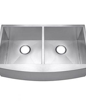 AKDY 33 X 20 X 9 Undermount Apron Double Bowls Basin 18 Gauge Handmade Stainless Steel Farmhouse Kitchen Sink 0 300x360