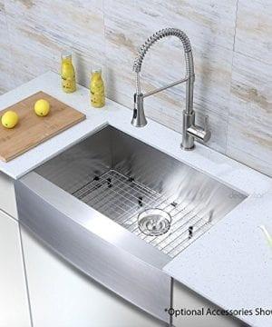 Decor Star F 001 Z V2 30 Inch X 21 Inch Farmhouse Apron Single Bowl 16 Gauge Stainless Steel Luxury Handmade Kitchen Sink CUPC Zero Radius 0 1 300x360