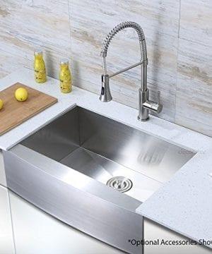 Decor Star F 001 Z V2 30 Inch X 21 Inch Farmhouse Apron Single Bowl 16 Gauge Stainless Steel Luxury Handmade Kitchen Sink CUPC Zero Radius 0 300x360