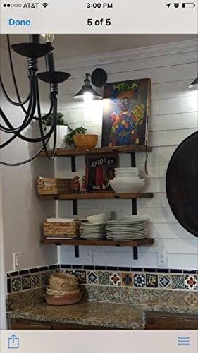 Farmhouse Industrial Shelf By THE FALLING TREE 36 X 10 X 15 Inches Espresso Rustic Floating 0 1
