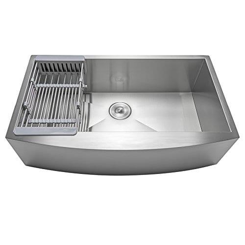Firebird 33 X 22 X 9 Apron Farmhouse Handmade Stainless Steel Single Bowl Kitchen Sink W Drain Strainer Kit Adjustable Tray 0 2
