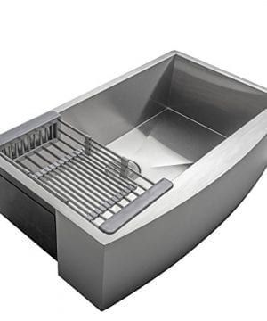 Firebird 33 X 22 X 9 Apron Farmhouse Handmade Stainless Steel Single Bowl Kitchen Sink W Drain Strainer Kit Adjustable Tray 0 3 300x360