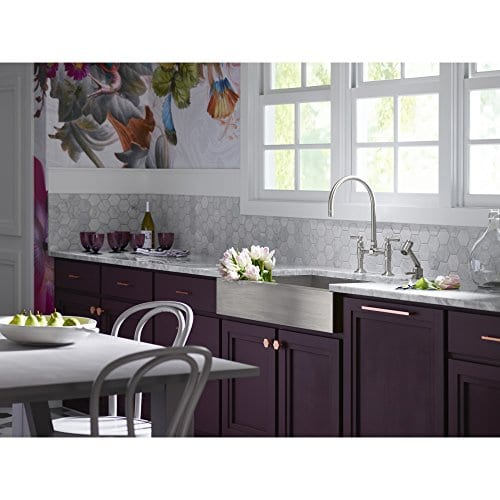 KOHLER K 3943 NA Vault Undercounter Single Basin Stainless Steel Sink With Shortened Apron Front For 36 Inch Cabinet 0 1