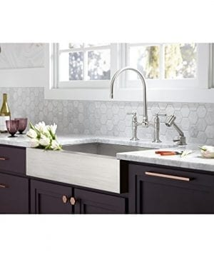KOHLER K 3943 NA Vault Undercounter Single Basin Stainless Steel Sink With Shortened Apron Front For 36 Inch Cabinet 0 3 300x360