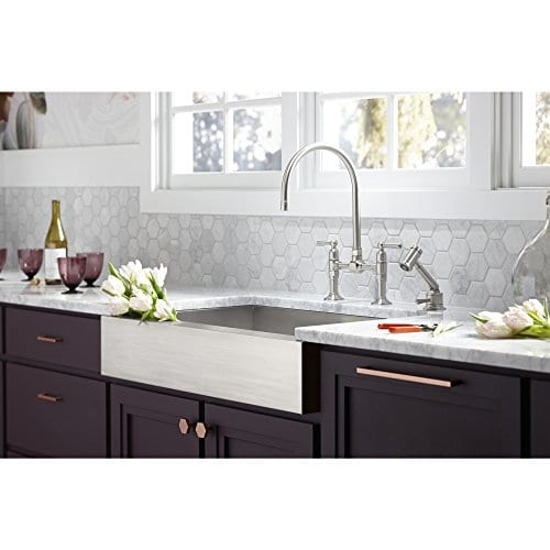 KOHLER K 3943 NA Vault Undercounter Single Basin Stainless Steel Sink With Shortened Apron Front For 36 Inch Cabinet 0 3