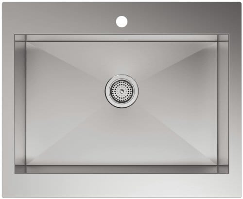 Kohler 3935 1 NA Top Mount Single Bowl Stainless Steel Kitchen Sink With Tall Apron For 30 Inch Cabinet 0 0