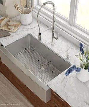 Kraus KHF200 36 36 Inch Farmhouse Apron Single Bowl 16 Gauge Stainless Steel Kitchen Sink 0 0 300x360