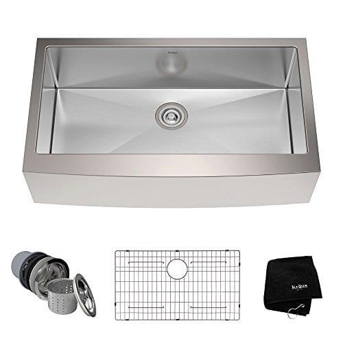 Kraus KHF200 36 36 Inch Farmhouse Apron Single Bowl 16 Gauge Stainless Steel Kitchen Sink 0