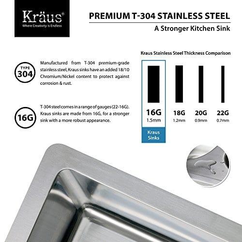 Kraus KHF203 33 33 Inch Farmhouse Apron 6040 Double Bowl 16 Gauge Stainless Steel Kitchen Sink 0 3