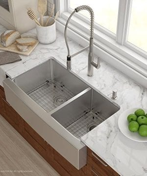 Kraus KHF203 36 36 Inch Farmhouse Apron 6040 Double Bowl 16 Gauge Stainless Steel Kitchen Sink 0 0 300x360
