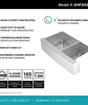 Kraus KHF203 36 36 Inch Farmhouse Apron 6040 Double Bowl 16 Gauge Stainless Steel Kitchen Sink 0 2 300x360