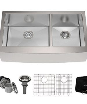 Kraus KHF203 36 36 Inch Farmhouse Apron 6040 Double Bowl 16 Gauge Stainless Steel Kitchen Sink 0 300x360