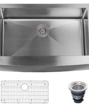 Miseno MSS3020F Farmhouse 30 Single Basin Stainless Steel Kitchen Sink With Apr 0 300x360