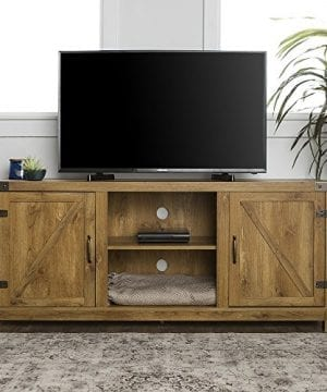 New 58 Inch Barn Door Television Stand With Side Doors 0 300x360