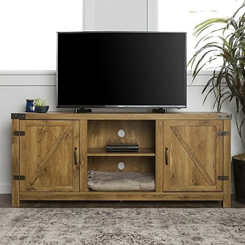 New 58 Inch Barn Door Television Stand With Side Doors 0