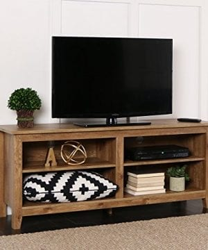 New 58 Inch Wide Barnwood Finish Television Stand 0 300x360