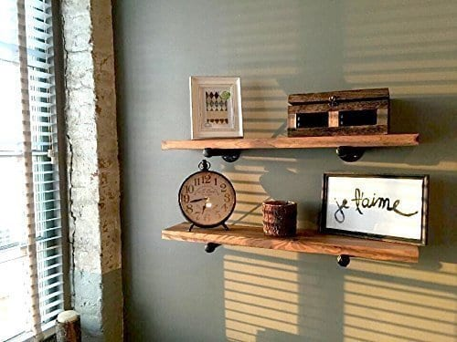 Rustic Floating Shelves Industrial Shelving Floating Wall Shelf Wood Floating Shelves Wooden Wall Shelf Long Floating Shelf Mantel Shelf Farmhouse Shelving Shelves Wall Mounted 0 0