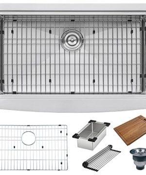 Ruvati Apront Front 16 Gauge Kitchen Sink Single Bowl 0 0 300x360