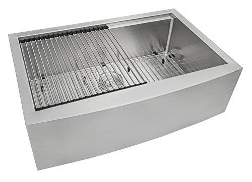 Ruvati Apront Front 16 Gauge Kitchen Sink Single Bowl 0 3
