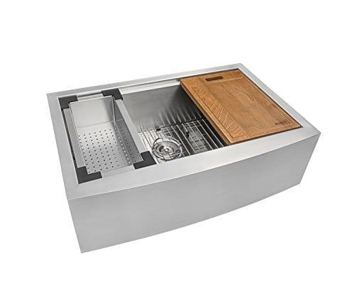 Ruvati Apront Front 16 Gauge Kitchen Sink Single Bowl 0