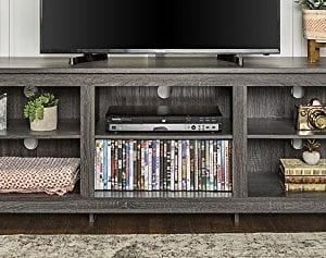 WE Furniture 70 Wood Media TV Stand Storage Console 0 300x237