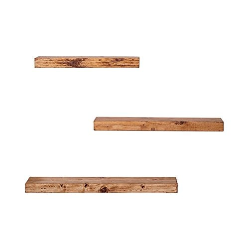 Walnut Set Of Three Floating Shelves By FALLING TREE 15thick 55deep And Cut To 1620 24 Length Sits Flush 0