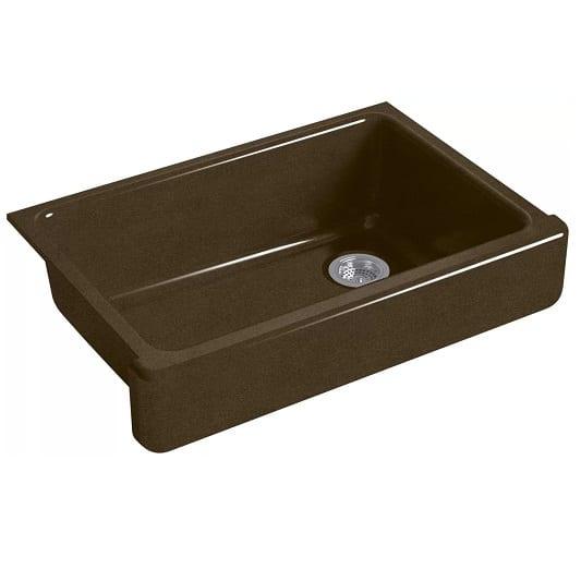 kohler whitehaven black and tan 33 inch farmhouse sink