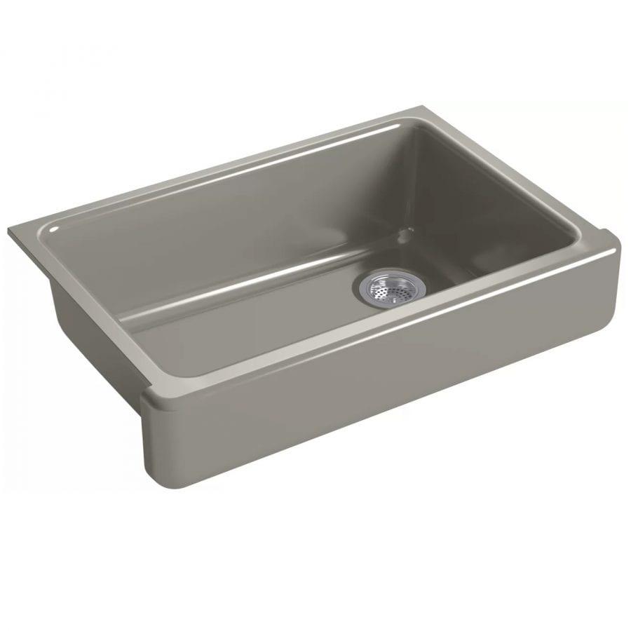 kohler whitehaven cashmere 33 inch farmhouse sink
