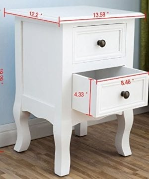 2 X White Nightstand Set 2 Bedside End Table Pair Shabby Chick Bedroom Furniture 0 0 300x360