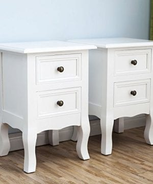 2 X White Nightstand Set 2 Bedside End Table Pair Shabby Chick Bedroom Furniture 0 1 300x360