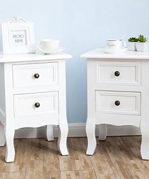 2 X White Nightstand Set 2 Bedside End Table Pair Shabby Chick Bedroom Furniture 0 300x360