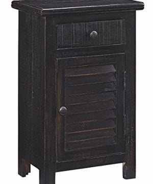 Ashley Furniture Signature Design Charlowe Nightstand 1 Cabinet And 1 Drawer Vintage Casual White Wash 0 300x360