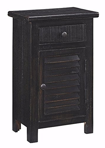 Ashley Furniture Signature Design Charlowe Nightstand 1 Cabinet And 1 Drawer Vintage Casual White Wash 0