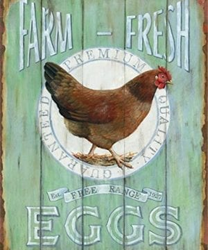 Barnyard Designs Farm Fresh Free Range Eggs Retro Vintage Tin Bar Sign Country Home Decor 10 X 13 0 300x360