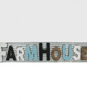 Barnyard Designs Large Vintage Wooden Cutout Farmhouse Sign With Galvanized Metal Backing Primitive Country Home Decor Comes With Rope For Easy Hanging 46 X 975 0 300x360