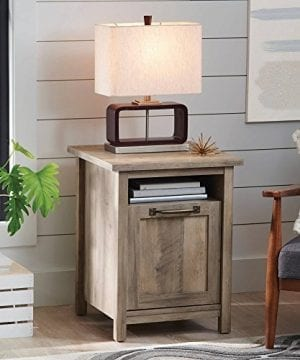 Better Homes And Gardens Modern Farmhouse Side Table Nightstands Rustic Gray Finish 0 300x360