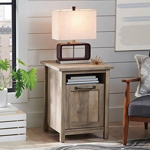 Better Homes And Gardens Modern Farmhouse Side Table Nightstands Rustic Gray Finish 0